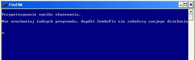 ComboFix przygotowuje wynik skanowania